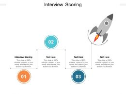 Interview Scoring Ppt Powerpoint Presentation Ideas Example File Cpb