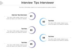Interview Tips Interviewer Ppt Powerpoint Presentation Summary Layout Ideas Cpb