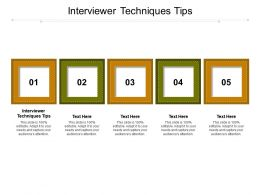 Interviewer Techniques Tips Ppt Powerpoint Presentation Layouts Background Designs Cpb