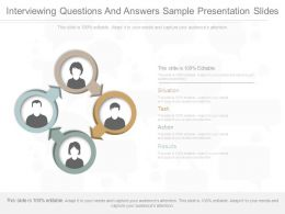 Interviewing Questions And Answers Sample Presentation Slides