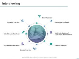 Interviewing Select Applicant Applications Ppt Powerpoint Presentation File Graphics