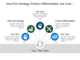 Intra Firm Strategy Product Differentiation Low Cost Producer