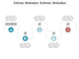 Intrinsic Motivation Extrinsic Motivation Ppt Powerpoint Presentation Layouts Information Cpb
