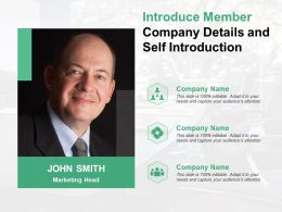 Introduce Member Company Details And Self Introduction