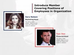 Introduce Member Covering Positions Of Employees In Organization