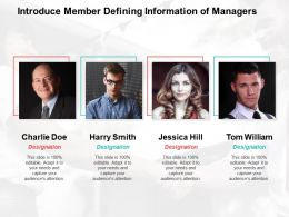 Introduce Member Defining Information Of Managers