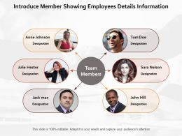 Introduce Member Showing Employees Details Information