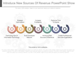 Introduce New Sources Of Revenue Powerpoint Show
