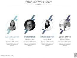 Introduce Your Team Powerpoint Slide Background Image