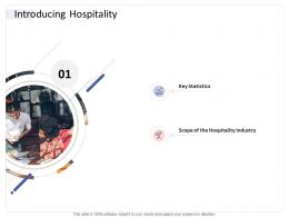 Introducing Hospitality Hospitality Industry Business Plan Ppt Themes