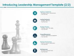 Introducing Leadership Management Development Ppt Powerpoint Deck