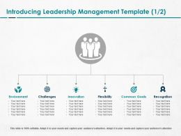 Introducing Leadership Management Flexibility Ppt Powerpoint Good