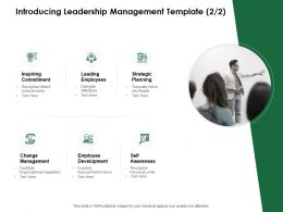 Introducing Leadership Management Template Change Management Ppt Powerpoint Outline