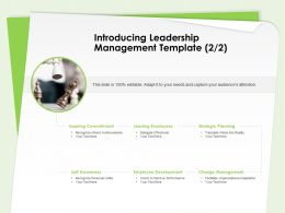 Introducing Leadership Management Template Employee Development Ppt Design Templates