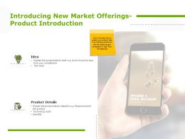 Introducing New Market Offerings Product Introduction Idea Planning Ppt Powerpoint Presentation Show Slide