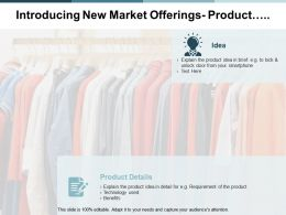 Introducing New Market Offerings Product Ppt Powerpoint Presentation Gallery Structure