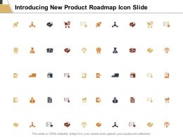Introducing New Product Roadmap Icon Slide Target C280 Ppt Powerpoint Presentation