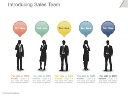 Introducing Sales Team Powerpoint Slide Presentation Sample
