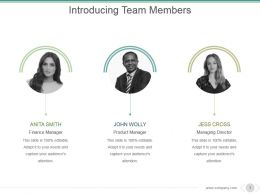 Introducing Team Members Powerpoint Slide Deck Template