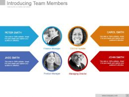 Introducing Team Members Powerpoint Slide Designs