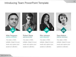 Introducing Team Powerpoint Template