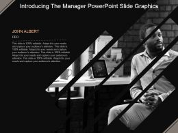 Introducing The Manager Powerpoint Slide Graphics