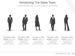 Introducing The Sales Team Powerpoint Slide Deck