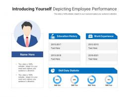 Introducing Yourself Depicting Employee Performance Infographic Template