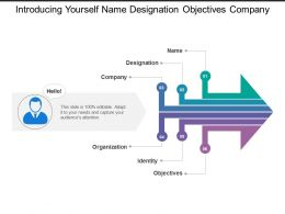 Introducing Yourself Name Designation Objectives Company