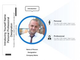 Introducing Yourself Name Personal Professional Designation