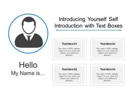 Introducing Yourself Self Introduction With Text Boxes