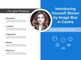 Introducing Yourself Shown By Image Box In Centre