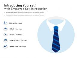 Introducing Yourself With Employee Self Introduction Infographic Template