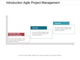 Introduction Agile Project Management Ppt Powerpoint Presentation File Visual Aids Cpb
