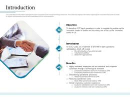 Introduction Bank Operations Transformation Ppt Model Show