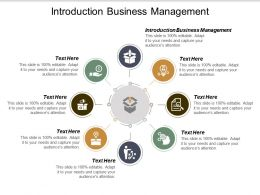 Introduction Business Management Ppt Powerpoint Presentation Portfolio Examples Cpb