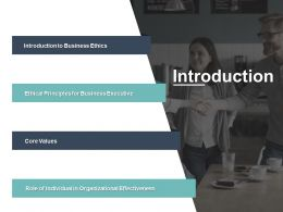 Introduction Core Values Business Ethics Ppt Powerpoint Presentation Gallery Pictures