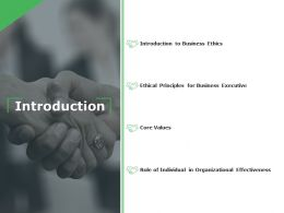 Introduction Core Values Ppt Powerpoint Presentation Model Icon