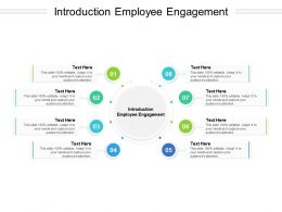 Introduction Employee Engagement Ppt Powerpoint Presentation Slides Microsoft Cpb