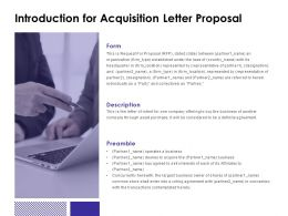 Introduction For Acquisition Letter Proposal Business Ppt Powerpoint Slides