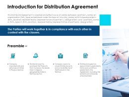 Introduction For Distribution Agreement Ppt Powerpoint Icon