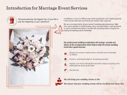 Introduction For Marriage Event Services Ppt Powerpoint Presentation Portfolio