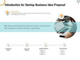 Introduction For Startup Business Idea Proposal Ppt Powerpoint Presentation Infographics Clipart