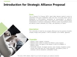 Introduction For Strategic Alliance Proposal Ppt Powerpoint Visuals