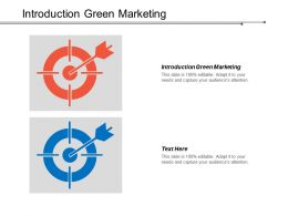 Introduction Green Marketing Ppt Powerpoint Presentation Model Template Cpb