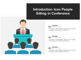 Introduction Icon People Sitting In Conference