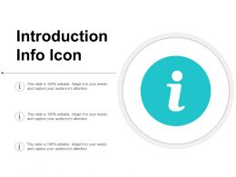 Introduction Info Icon
