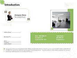 Introduction L1762 Ppt Powerpoint Presentation Layouts Deck