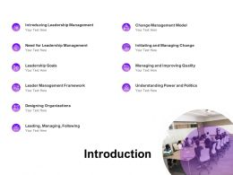 Introduction Leadership Management Ppt Powerpoint Presentation Styles