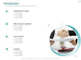 Introduction Main Research Question Ppt Powerpoint Presentation Pictures Show